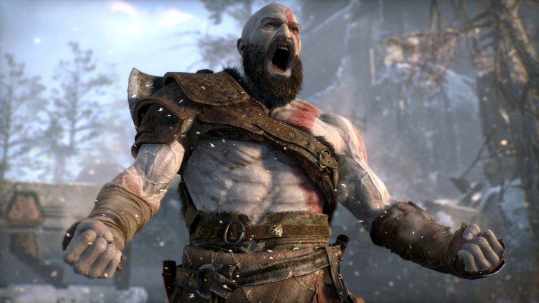 Kratos God of War Rage Angry