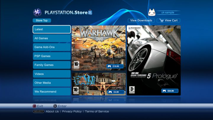 PS3 playstation store